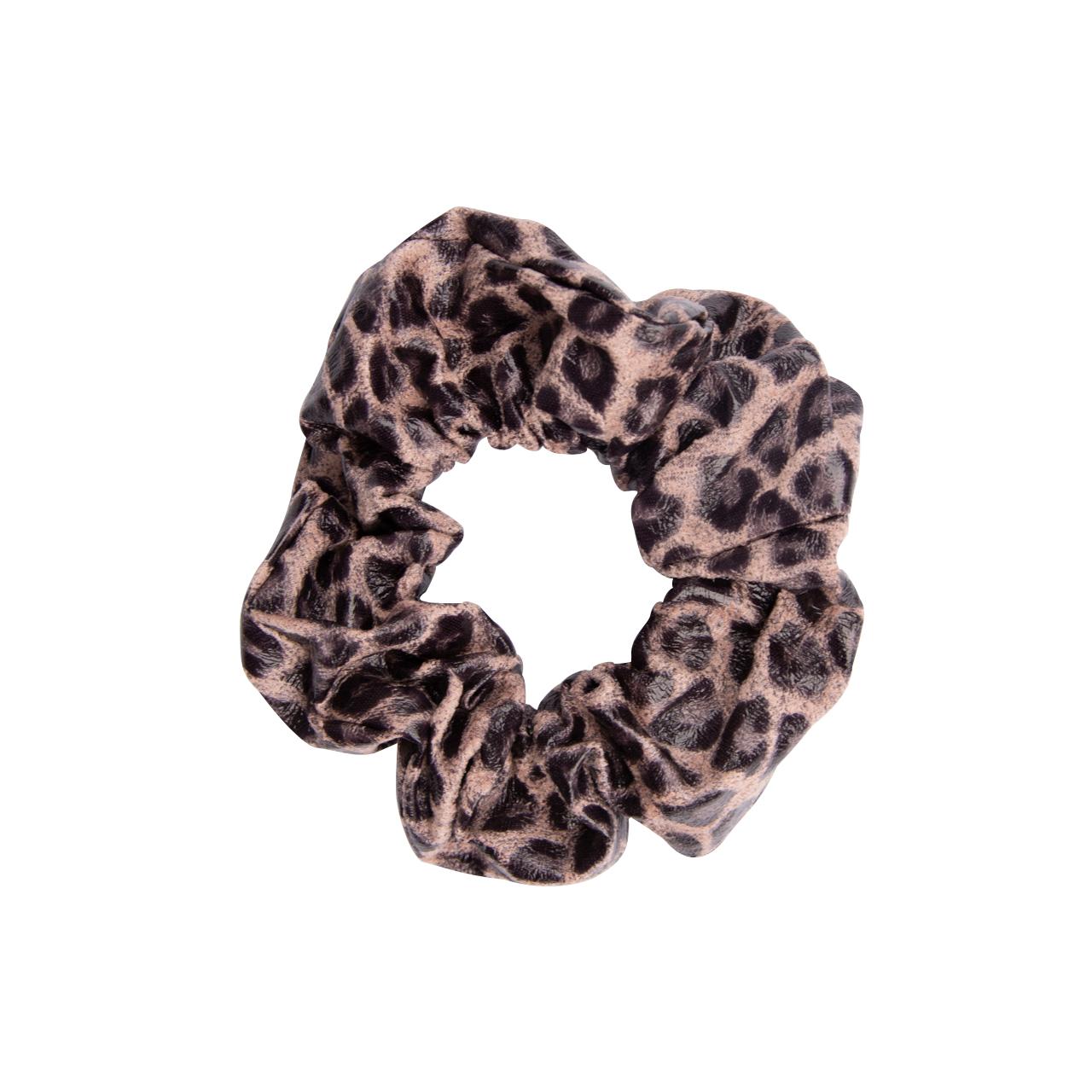 Scrunchies Pink Leopard