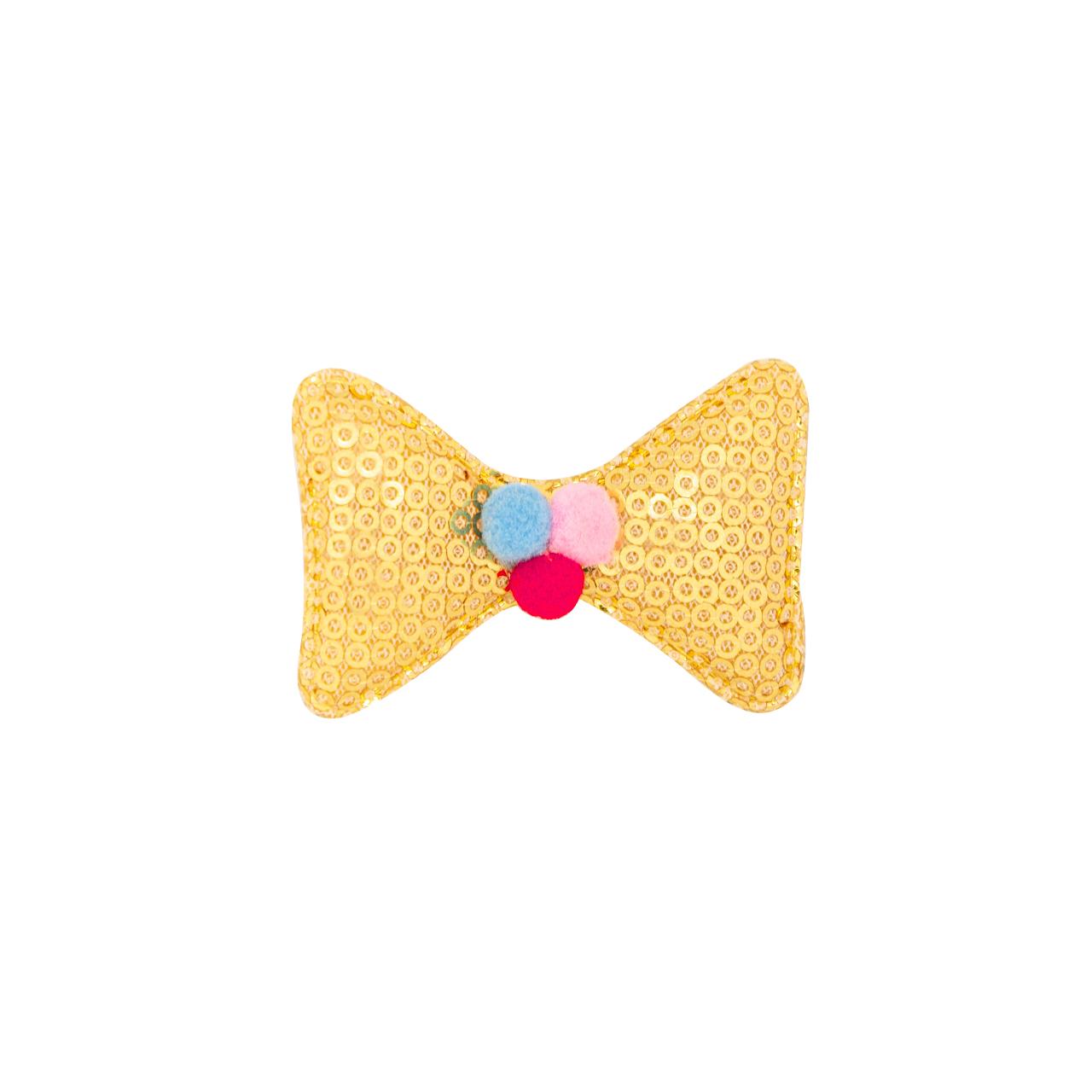 Hair Clips For Little Girls Golden Bow
