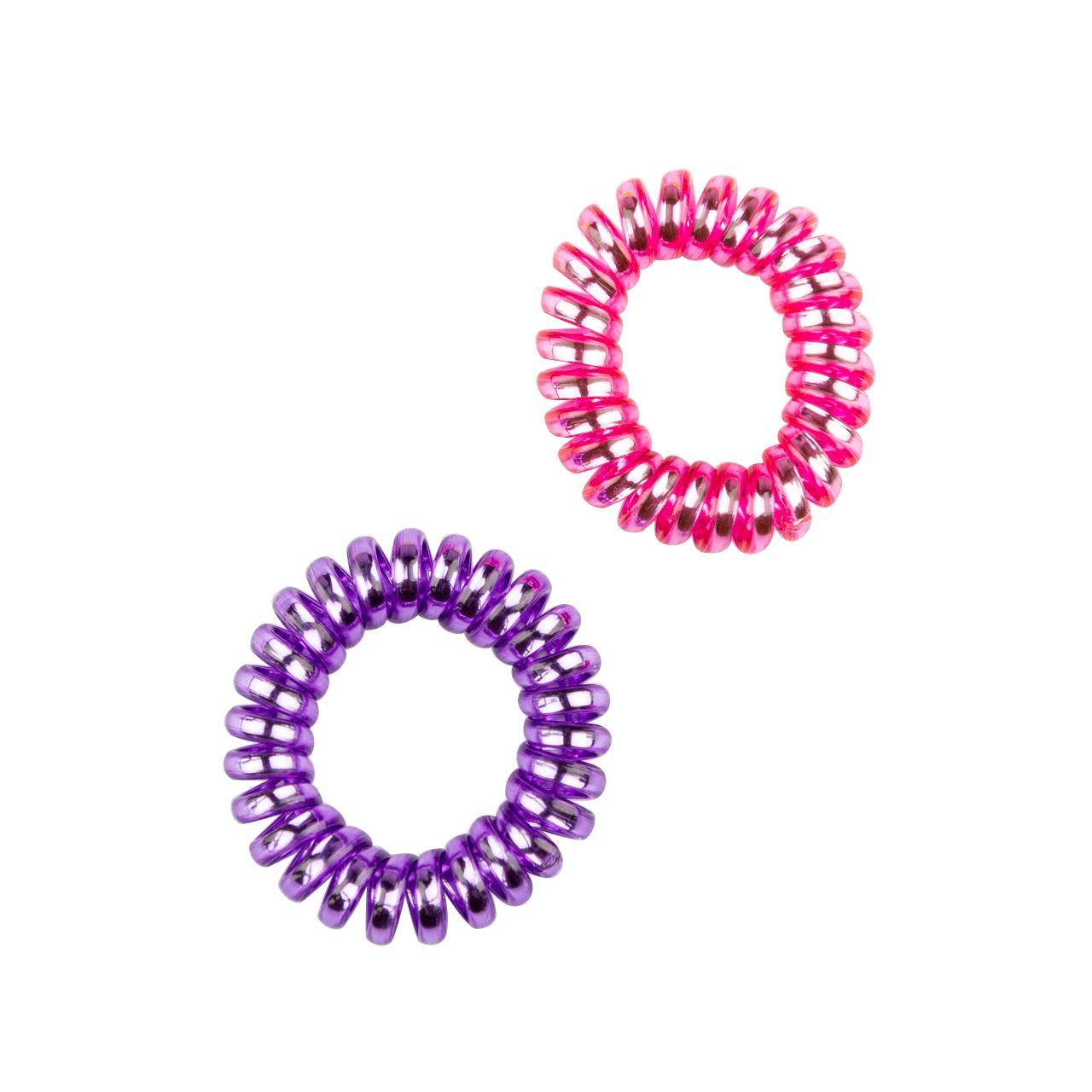 Scrunchy Spring Rubber Set 2 Pcs Purple-Pink