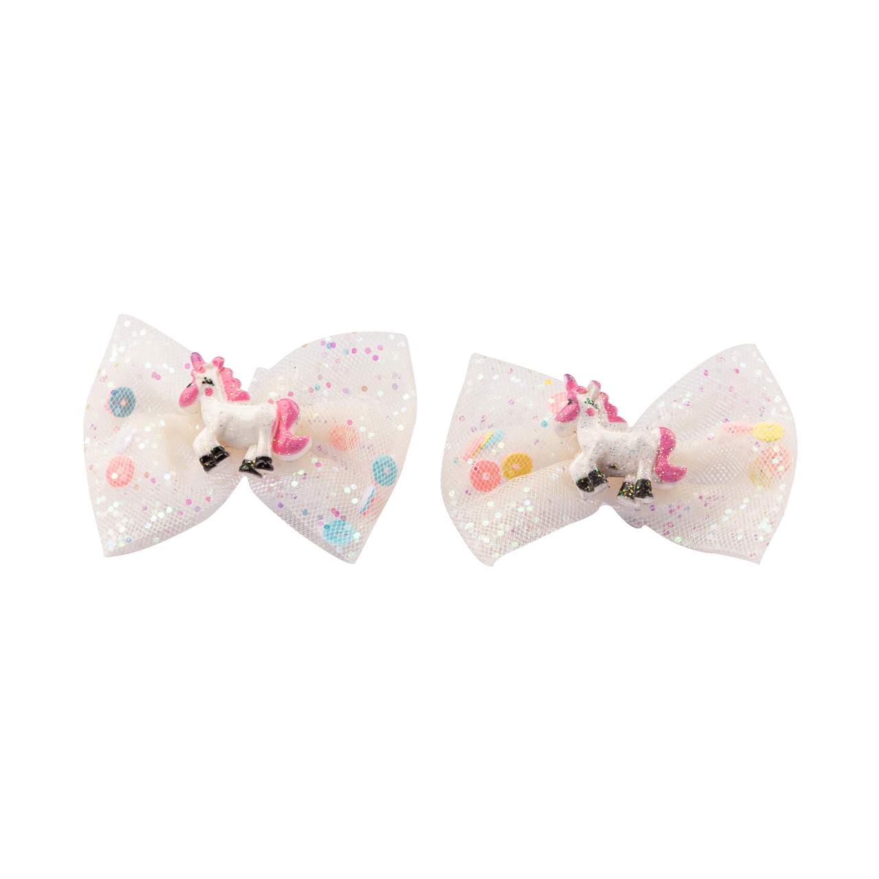 Set Of 2 Scrunchies With White Tulle And Little Horse