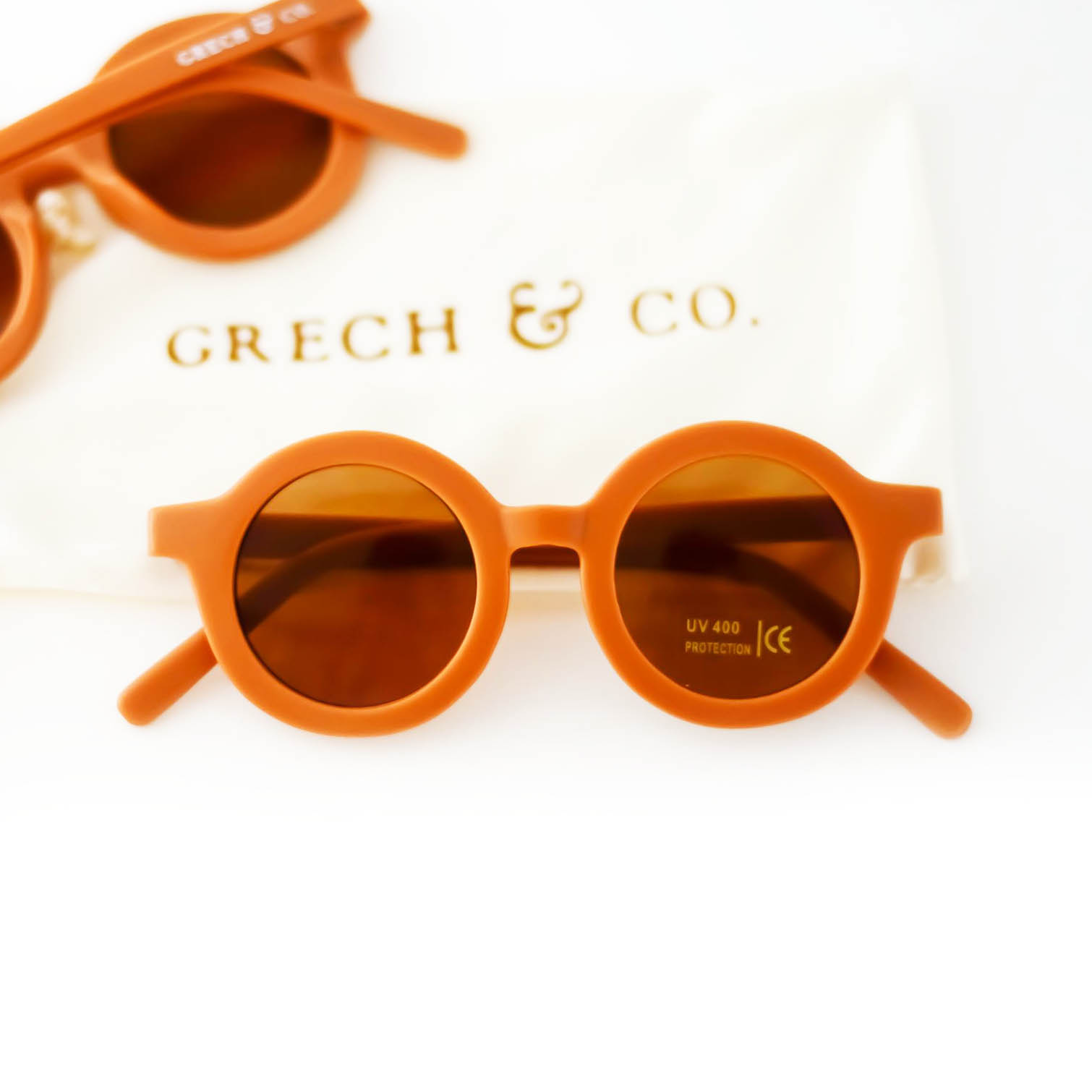 Original Round Sunglasses Made of Recycled Materials Spice