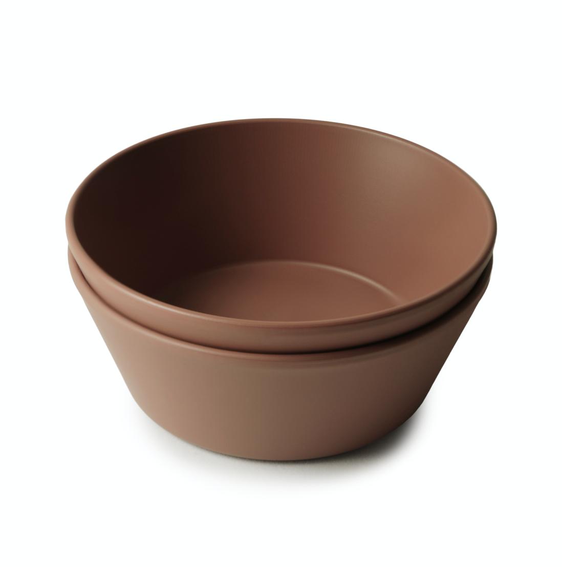 Set 2 Round Dinnerware Bowl Caramel
