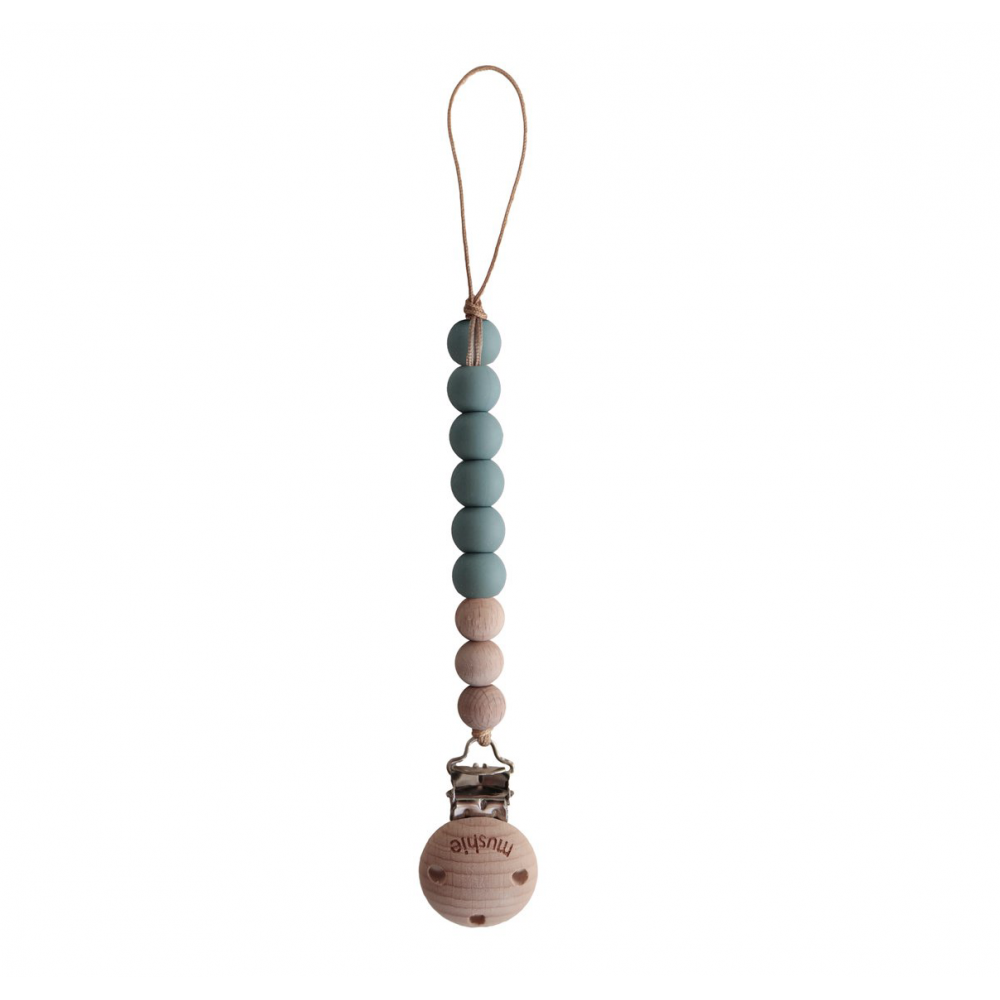 Pacifier Clips Cleo Cadet Blue