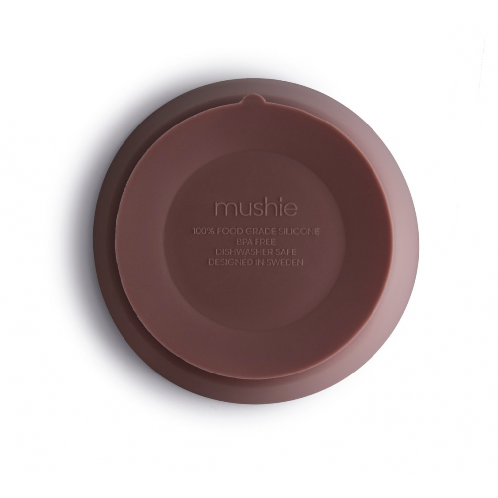 Mushie Silicone Bowl Cloudy Mauve