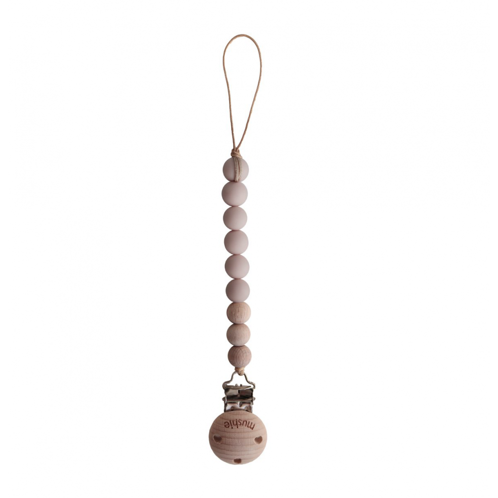 Pacifier Clip Cleo Blush