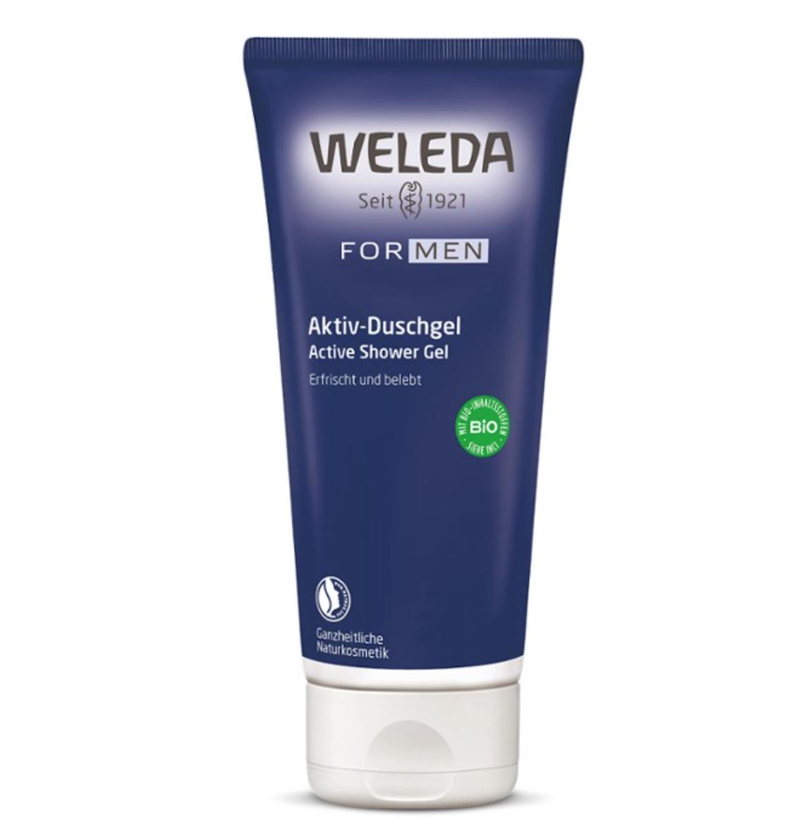 Mens Active Shower Gel 200ml Weleda