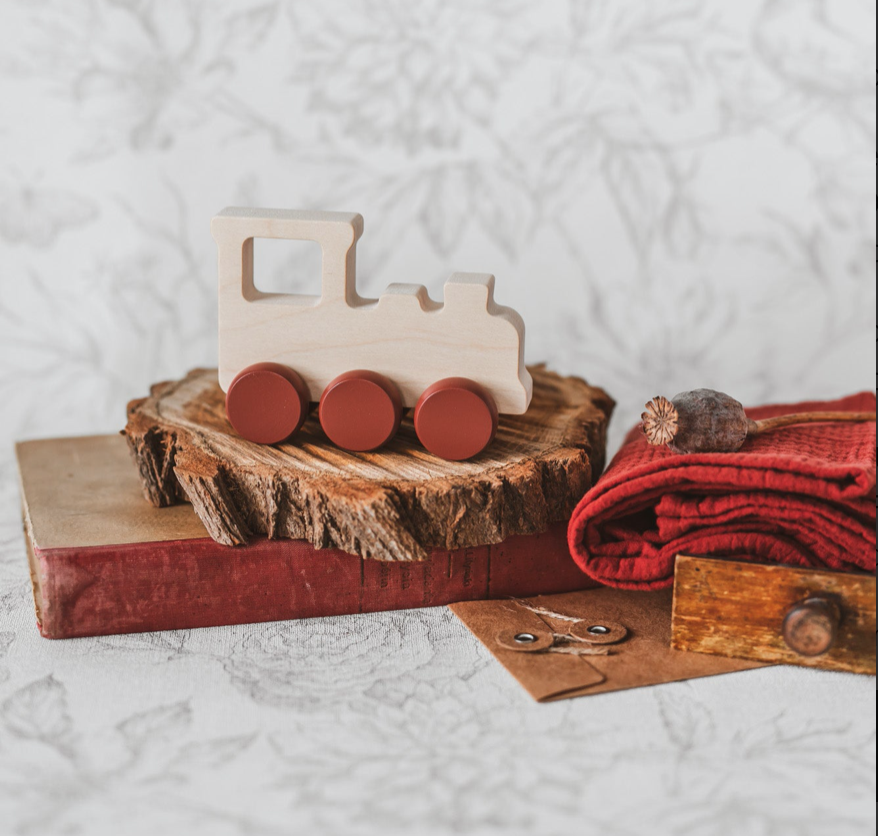 Gift Set With Wooden Toy Train