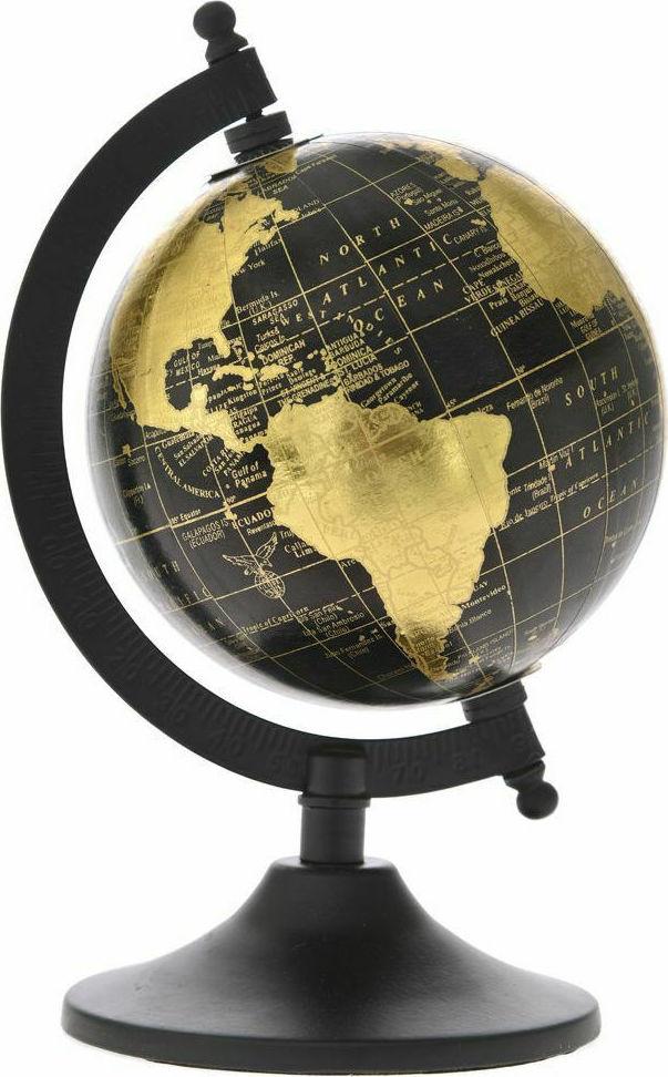 Decoration Black Globe13x21 cm