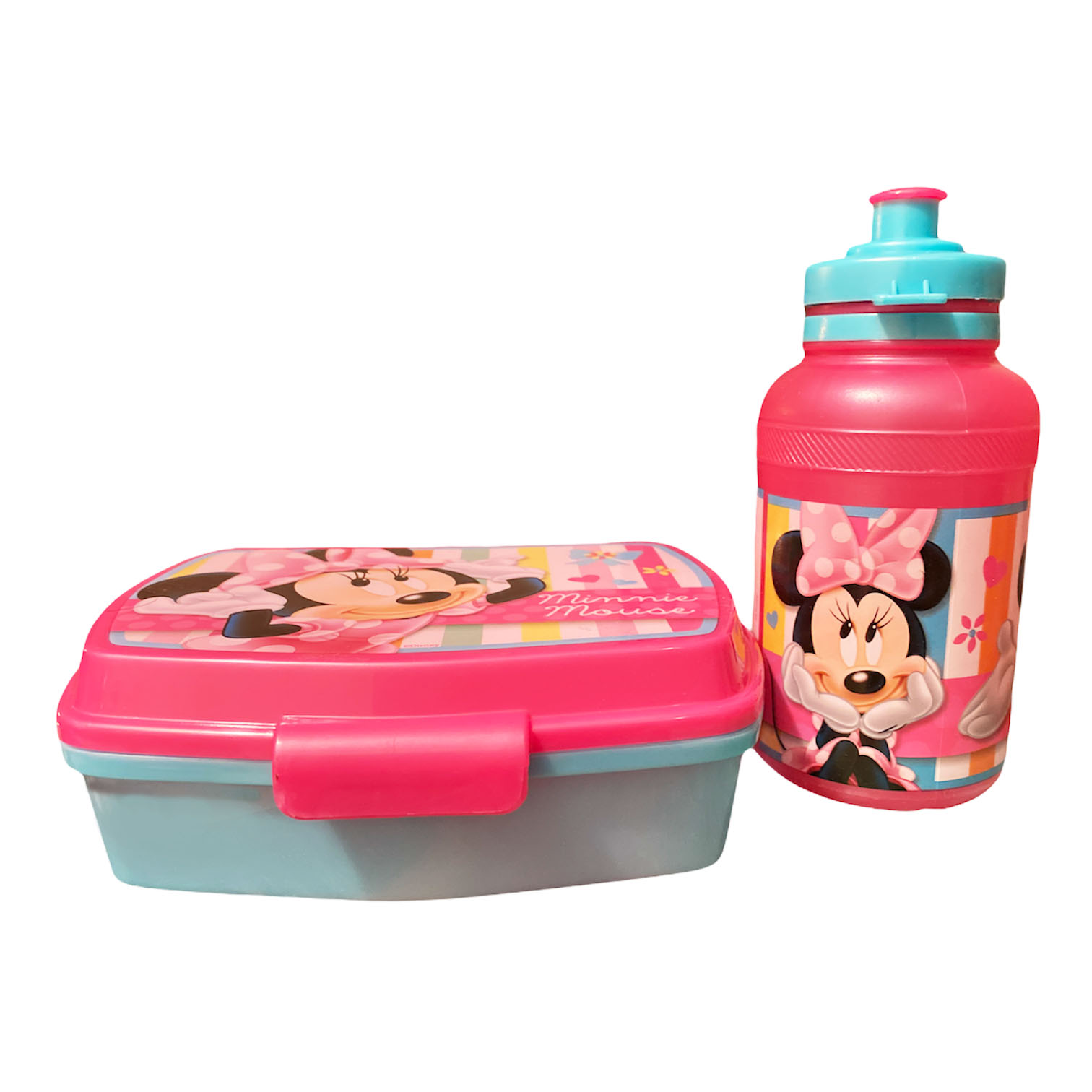 Plastic Food Container Set  Minnie Mouse