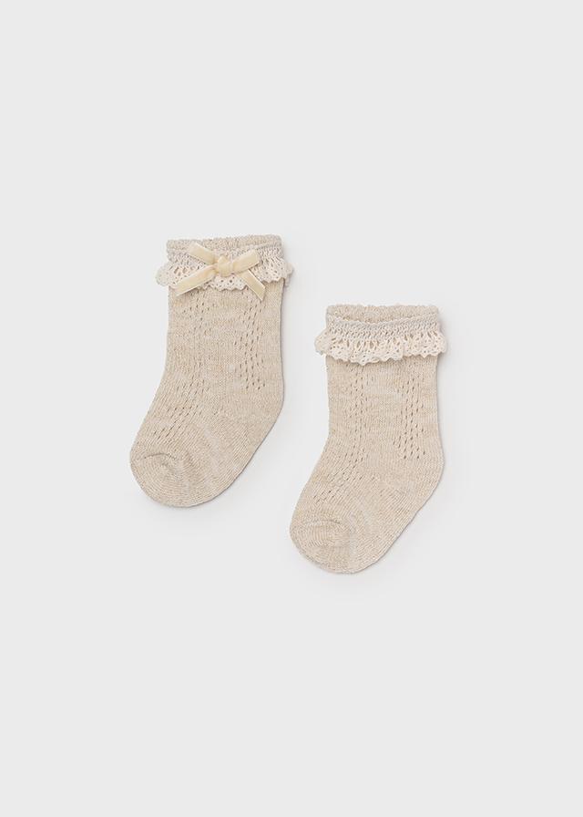 High dress socks for newborn girl