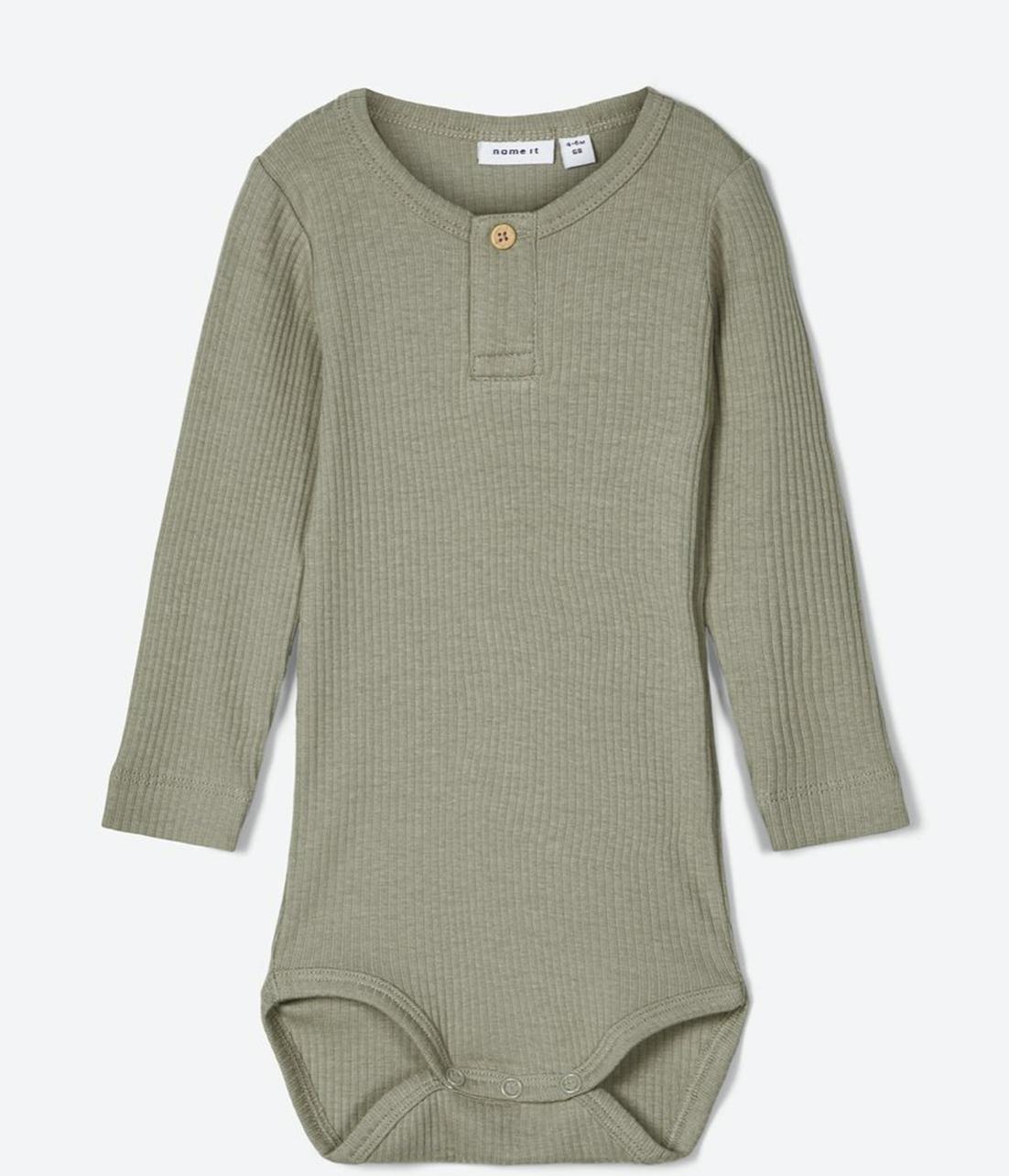 Baby Bodysuit Baker Collar Sage