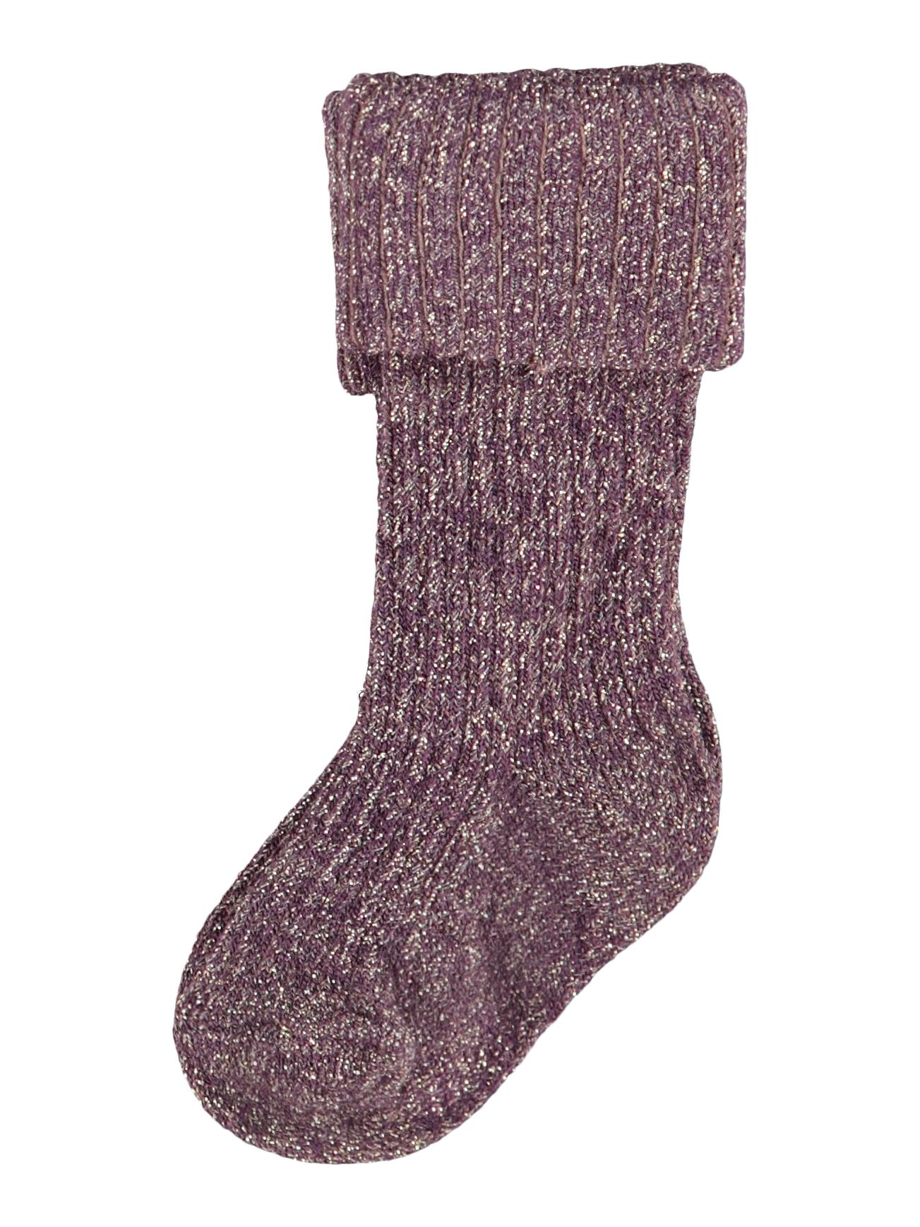 Baby Glittery Socks Mauve Golden