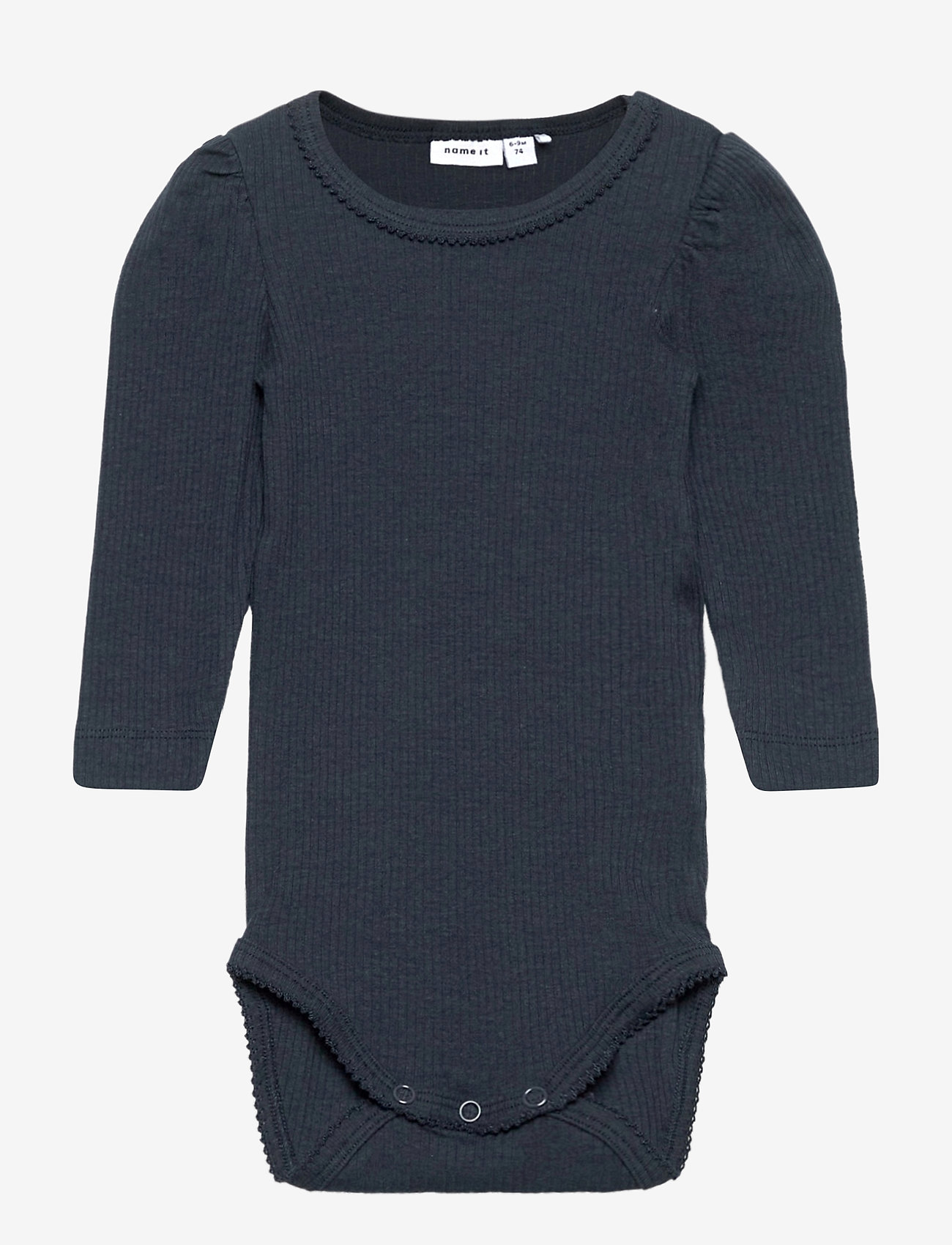 Baby Bodysuit Cotton Black